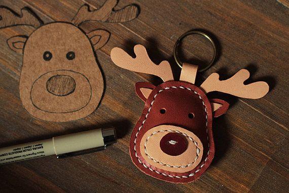 100% Handmade Reindeer Key chains Cute Animal Key ring