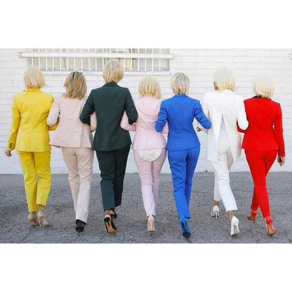 """- In many states, political shirts, buttons and other campaign merch aren't allowed within a certain radius of polling places. Enter the loophole found by Hillary's supporters: women across the country are planning on wearingpantsuits when they head out to vote (hey, it's fair game). A Facebook event titled """"Pantsuits to the Polls"""" already has more than 650 RSVPs, and we can't wait to see theirElection Day street style."""