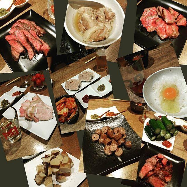 ひたすら肉!どれも美味。噛めば噛むほど味わい深く❤ #肉 #肉山横浜 #肉山登山 #ビールに合う #おなかいっぱい #よく食べた #肉食系 #肉食系女子