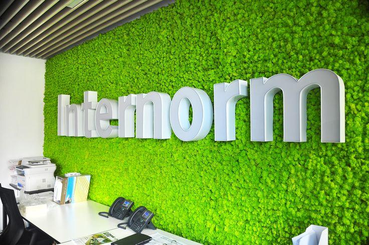 Realizacja ściany zielonej w biurze w Warszawie.