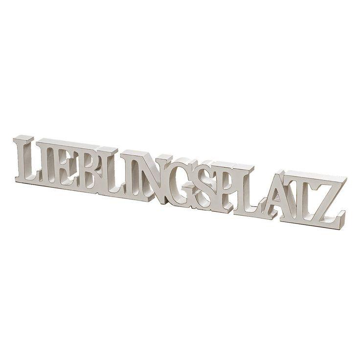 Aufsteller LIEBLINGSPLATZ weiß Schriftzug aus Holz Holzbuchstaben zum Stellen in Möbel & Wohnen, Dekoration, Schilder & Tafeln | eBay!