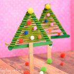 Craft Sticks Christmas Tree Craft