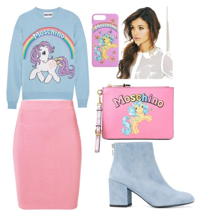 """""""Love moschino"""" by gforfashion on Polyvore featuring Moschino, T By Alexander Wang and Stuart Weitzman"""