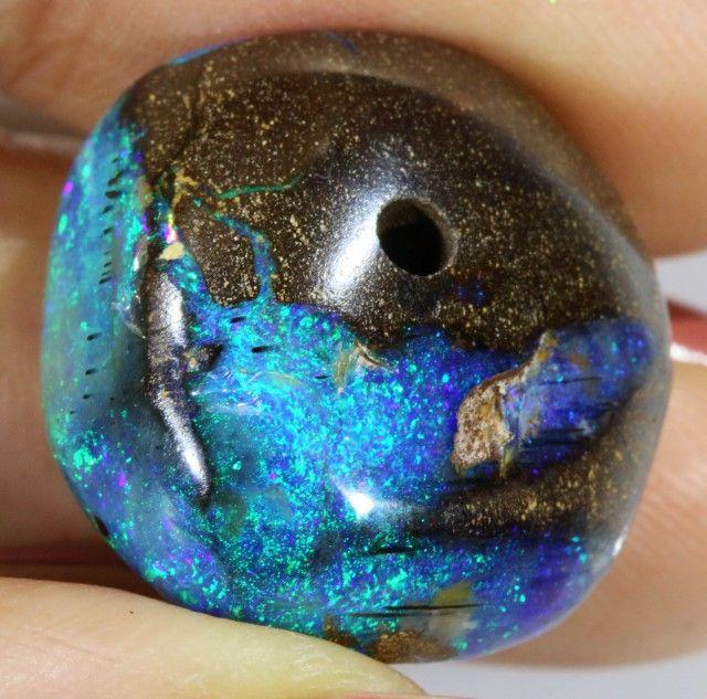 26.5 Cts Boulder Opal bead CF 708 boulder opal beads, opal beads, opal necklaces