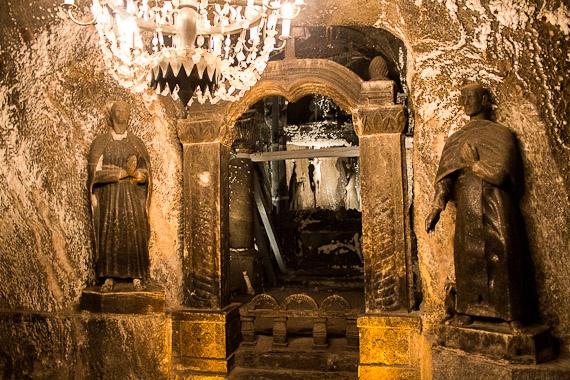 Wieliczka Salt Mine in Poland - Underground chapel.