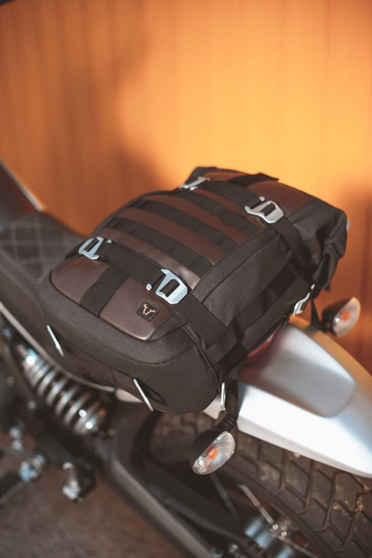 Legend Gear. The new retro luggage line for motorcycles by SW-MOTECH. Tail Bag LR1 This convenient combination of tail bag and fully fledged backpack recommends itself as a versatile companion for any tour - no matter whether by bike or on foot. For more information visit legend-gear.com #Ducati #Scrambler