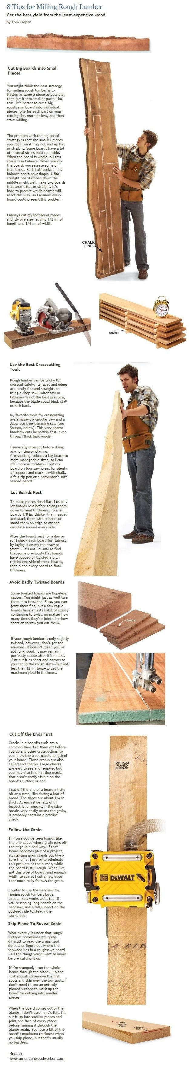 8 Tips for Milling Rough Lumber