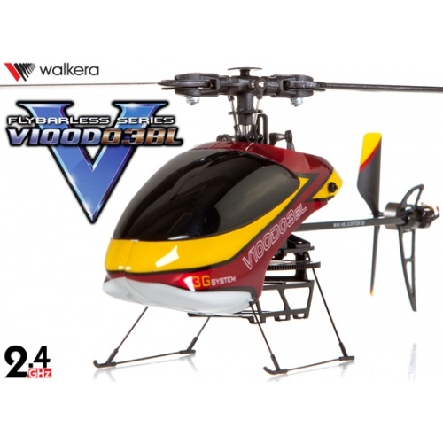 Walkera V100D03BL Flybarless Brushless 3-Axis-Gyro System 6CH Helicopter RTF