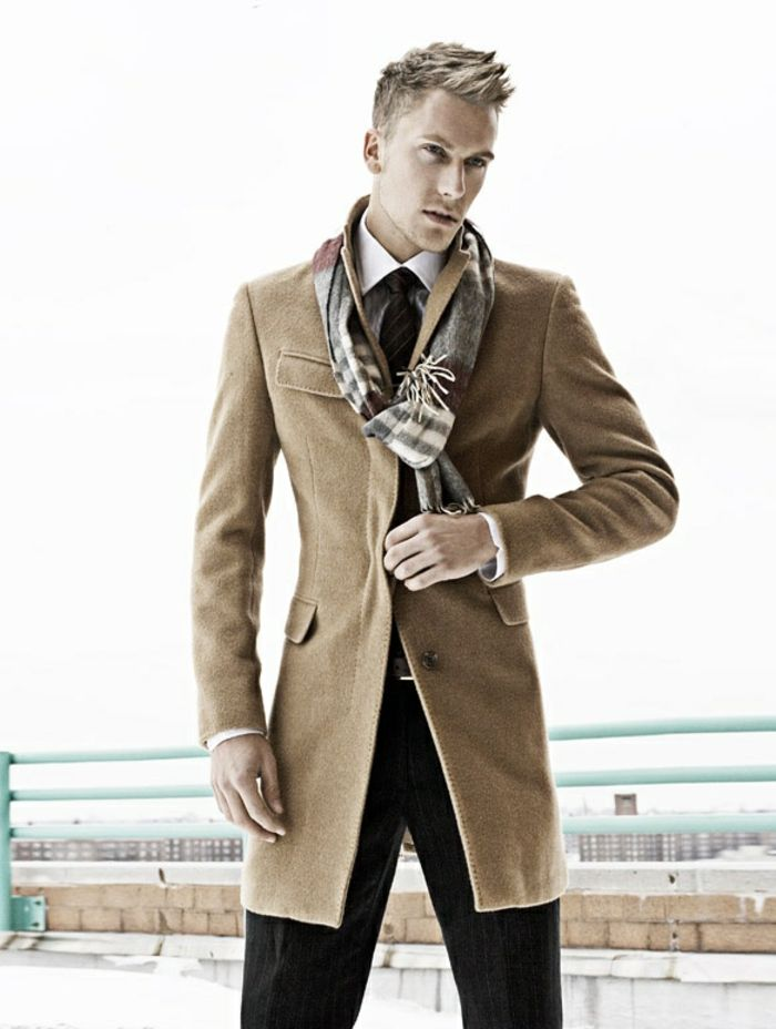 Manteau homme couleur taupe