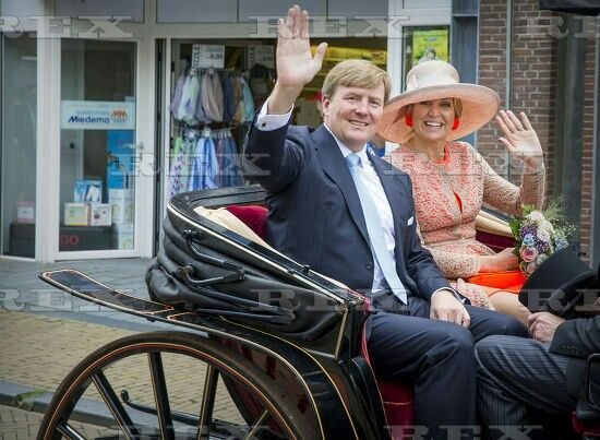 Dutch Royals visit Northwest Frieslan, The Netherlands - 13 Jun 2016 King Willem Alexander and Queen Maxima 13 Jun 2016
