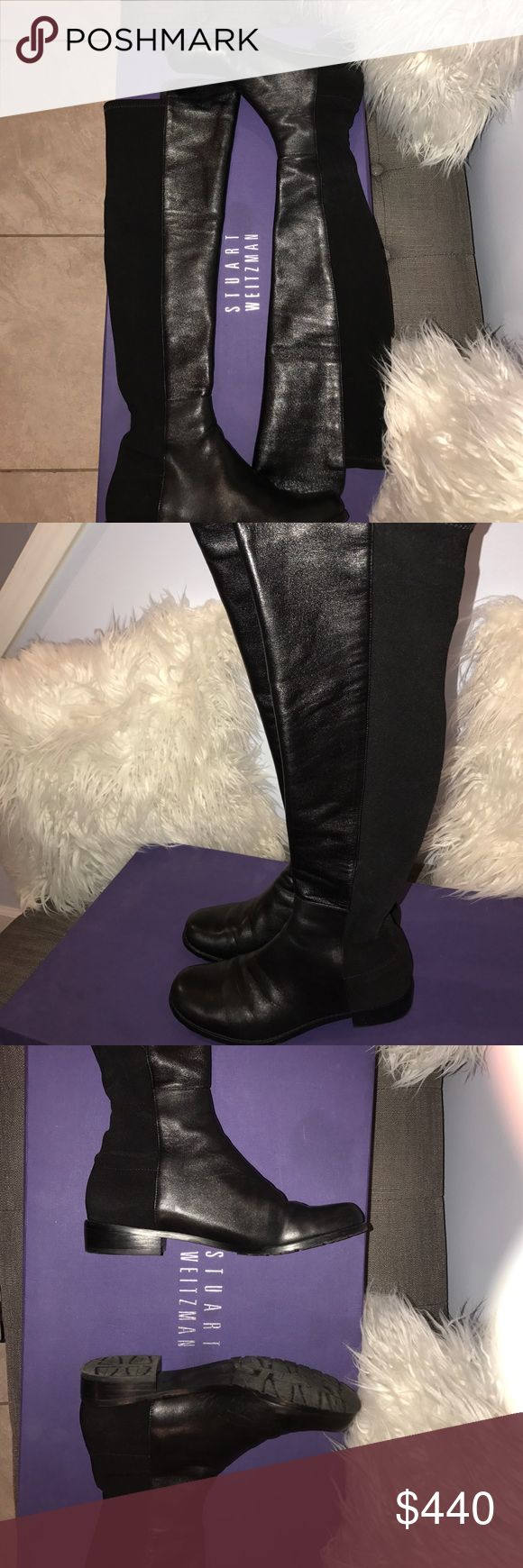 Stuart Weitzman 5050 Boot Classic Black Nappa Leather boot , authentic and very comfortable, comes w/ box Stuart Weitzman Shoes