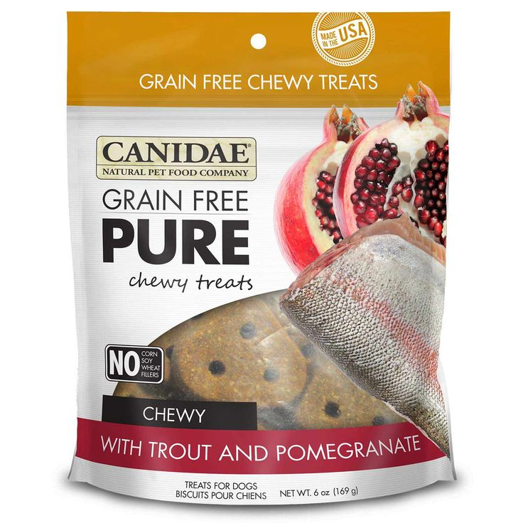 Canidae Grain Free Pure Chewy Dog Treats Trout And Pomegranate