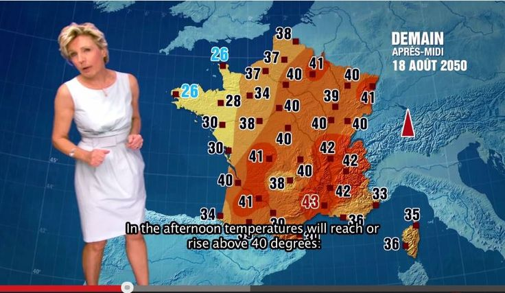16 août 2050. Météo France donne les prévisions de la journée pour la France : 40°à Paris et formation d'orages violents sur le reste du pays. 21 décembre 2050, premier jour de l'été austral au Pérou : pluies torrentielles dans le Sud, état d'urgence et accès interdit au site emblématique du Machu Picchu.