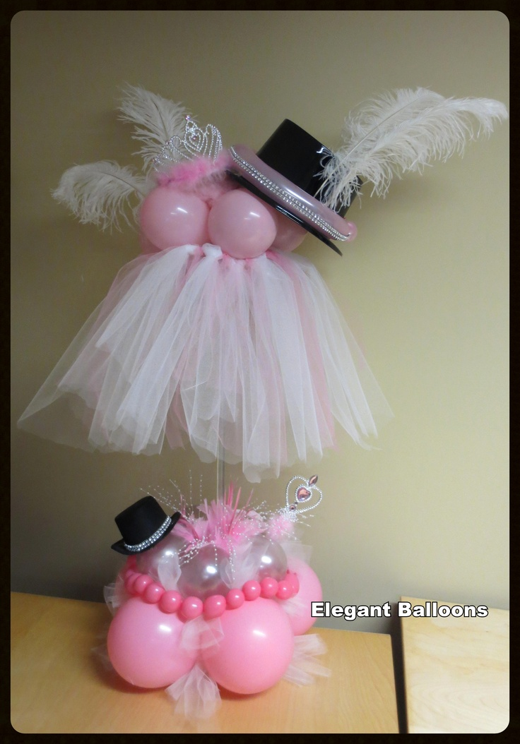 Tutu and Top Hat Centerpiece
