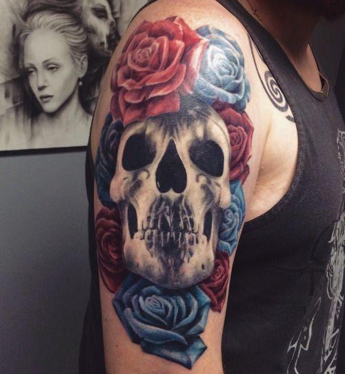 Deftones tattoo #deftones #tattoo #chinomoreno #tatuagem #caveira #flores #flowers #deftonesbesband
