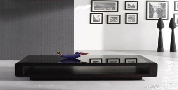 Black Mirror Top Contemporary Coffee Table