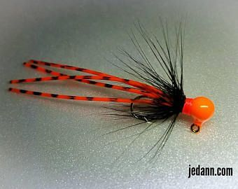 Size 10-1/64 oz UV Glow Ice Fishing Jig