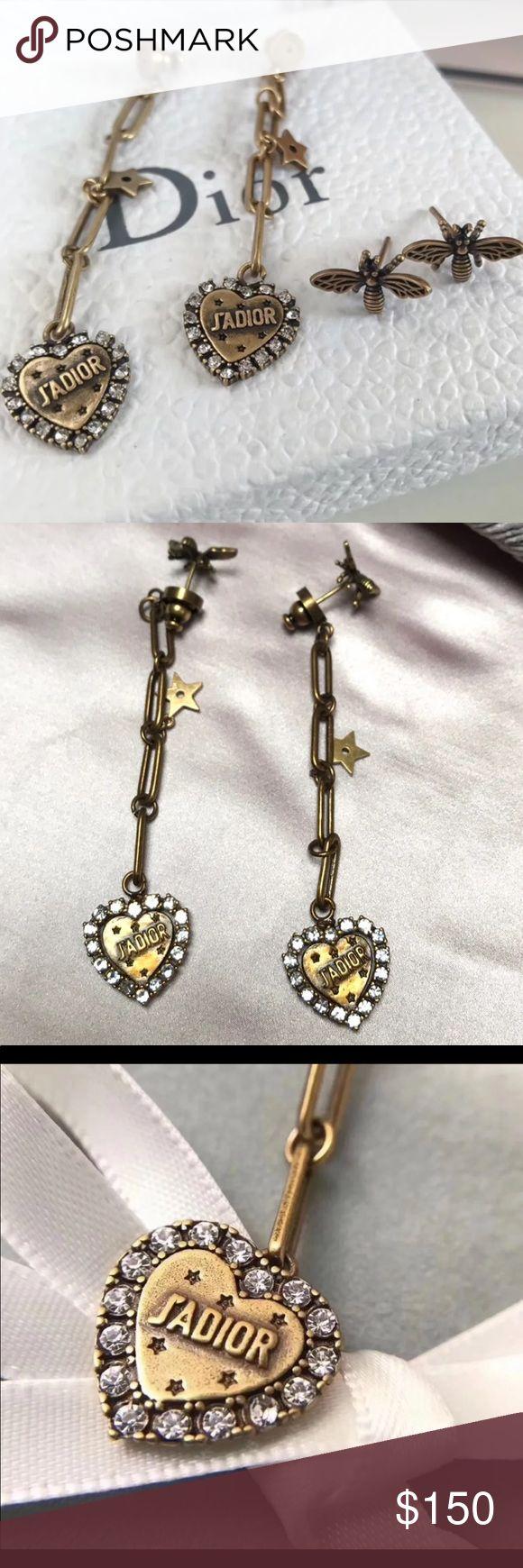Dior Tribale Heart Earrings Designer- Dior  Style- Tribale Earrings  Details- He…   – My Posh Picks