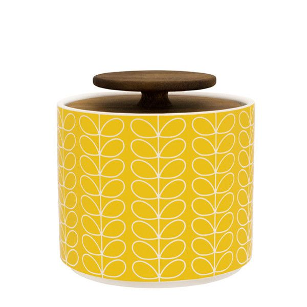 Orla Kiely Storage Jar 1l - Yellow – Kiitos living by design