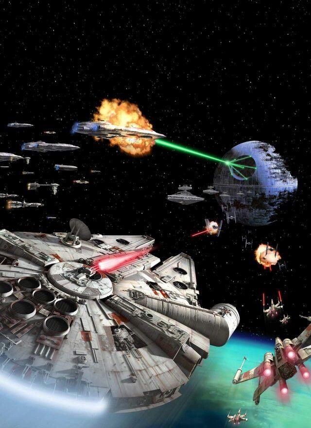 Star Wars space battle.   Fanboy Stuff   Pinterest