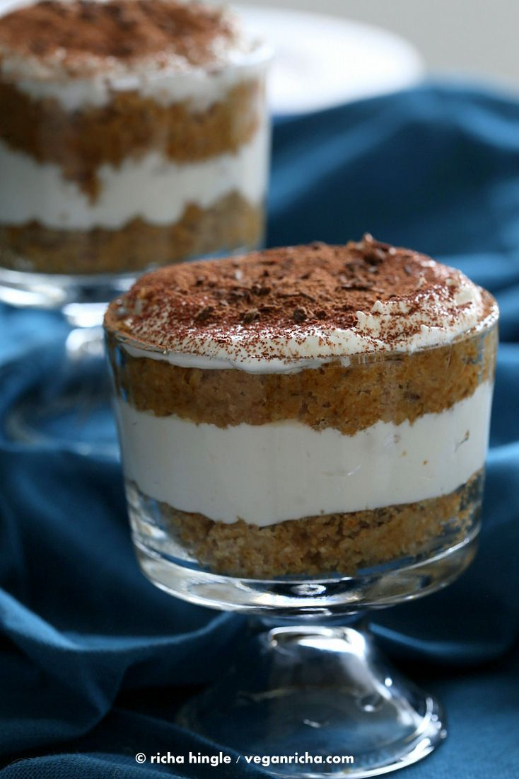 Vegan Tiramisu Trifles with Coco Whip. To make gf, blend 1 cup oat flour 1/2 cup starch,  according to VeganRicha