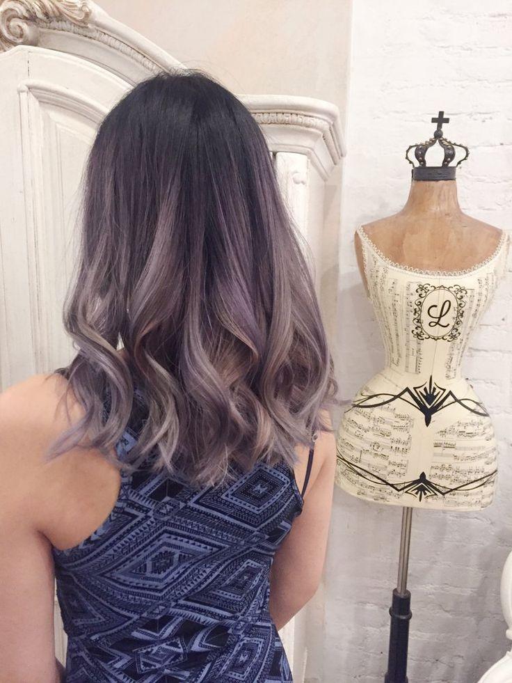 prettiest lilac/grey balayage! unicorn hair *w*