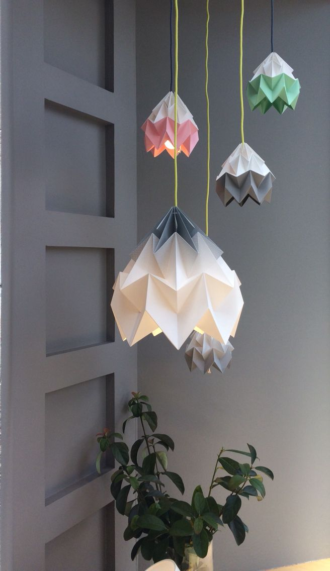 Gradient grey and bicolour moth Snowpuppe at Richmond Lighting http://paperempire.com.au/collections/all/lighting