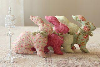 Materiales gráficos Gaby: Conejos costuras y moldes en tela