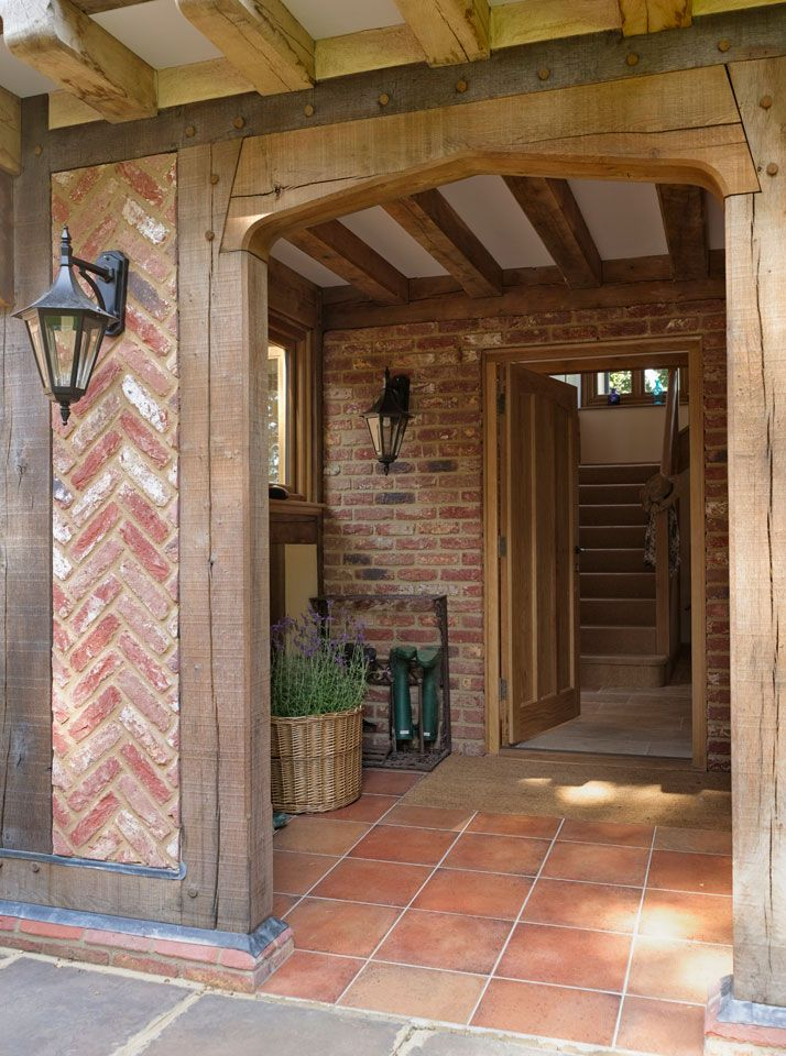 Manor Houses - Border Oak - oak framed houses, oak framed garages and structures. The porch.....