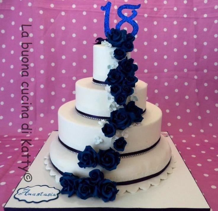 Katty's cakes - Le torte di Katty : Torta 18° wedding rose blu - Cake 18th wedding blue roses