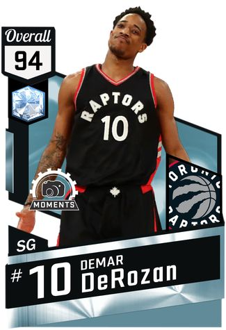 DeMar DeRozan against the Bulls on March 21st (W) : 43 min, 42 pts, 7 reb, 8 ast, 17-38 from the field, 7-11 from FT.