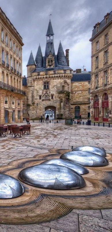 Porte Cailhau in Bordeaux, France.