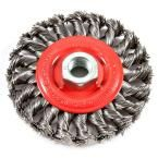 Forney 4 in. x 5/8 in.-11 Threaded Arbor Twist Knot Wire Wheel Brush
