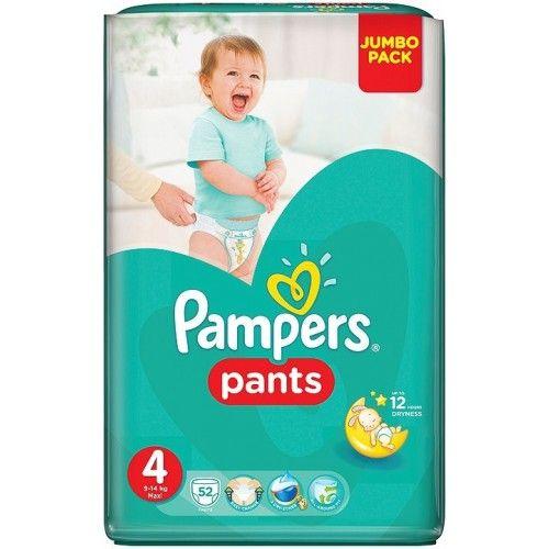 Pampers 4 kalhotové plenky Maxi 9-14kg 52ks  Plenky Pampers pro miminko levně! Doprava zdarma při objednání nad 1000 Kč!   https://babyplenky.cz/