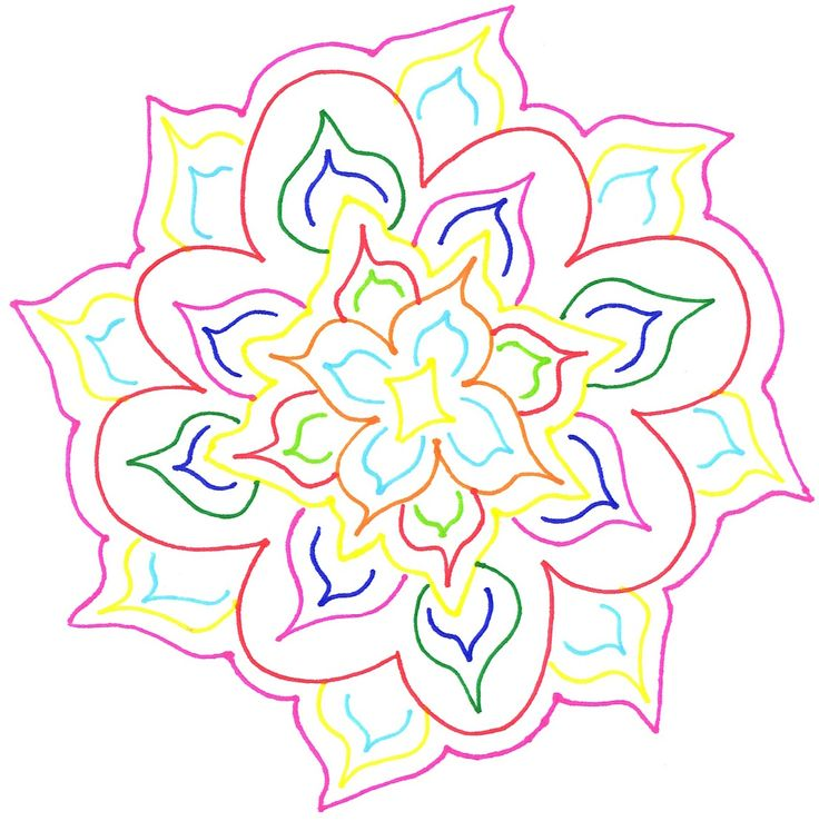 Another one of my flowers I doodled up. #flowers #doodles