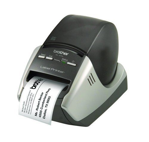 Brother QL-570 Professional Label Printer by Brother. $84.99. From the Manufacturer                The sleek and stylish Brother QL-570 Professional Label Printer produces high-resolution labels that are perfect for home and business applications, such as shipping labels, envelopes, CD/DVDs, name badges, and more. This ultra-fast label printer integrates easily with other popular applications, such as Microsoft Word, Excel, and Outlook, for added functionality. The QL-570...