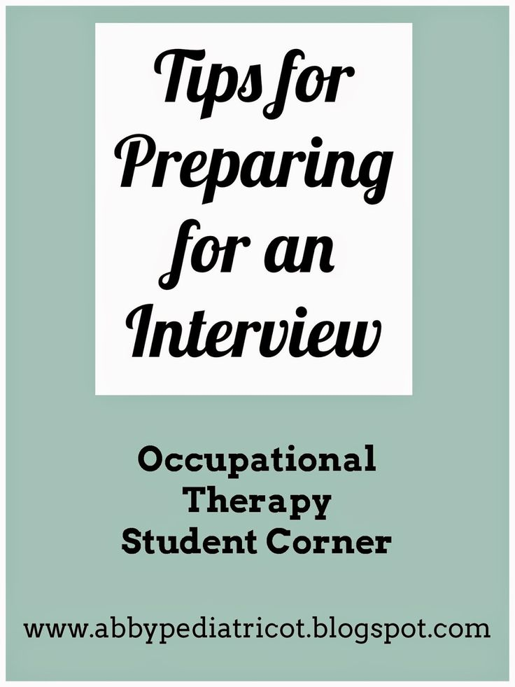 OT Cafe: OT Student Corner | Preparing for an Occupational Therapy Interview