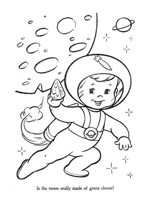 Картинки раскраски космонавтов для детей