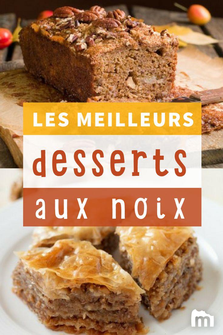 Nos desserts favoris aux noix /// #desserts #gâteaux #marmiton #recette #cuisine #noix