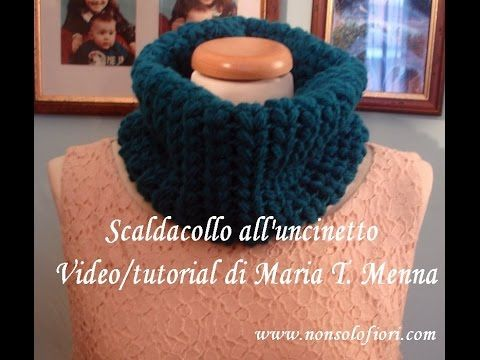 Scaldacollo uncinetto  Crochet Neck Warmer - YouTube