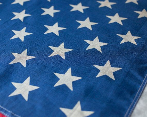 Vintage American Flag / 1950's / Original Cotton by MDQualityGoods