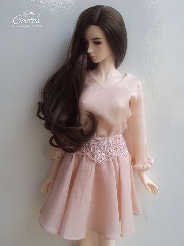 Vintage inspired outfit for Ball Jointed Dolls. Love After Love Collection by Contos. #bjd #balljointeddoll #doll #iplehousearia #shop #collection #vintage #clothes #outfit