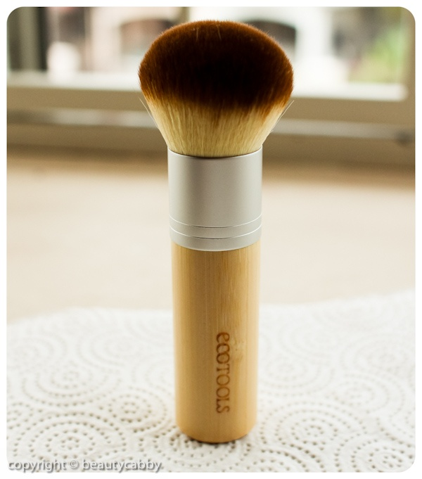 Ecotools Bamboo Brush: i use this for my bare minerals foundation everyday. It gives full coverage and applies evenly so there are no dark spots.