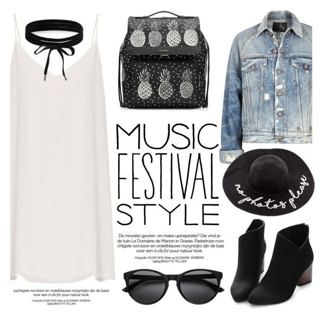 """""""Show Time: Best Festival Trend"""" by helenevlacho ❤ liked on Polyvore featuring Raey, R13, Dolce&Gabbana, Boohoo, contestentry and festivalfashion"""