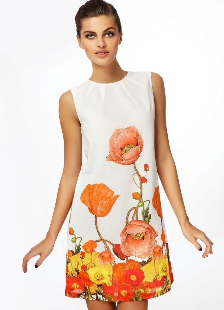 Модели летних платьев до колена