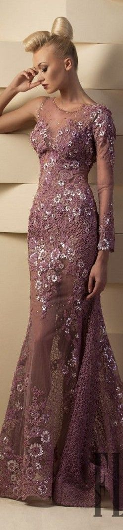 Hanna Toumajean couture 2015 lace maxi dress   women fashion outfit clothing stylish apparel @roressclothes closet ideas