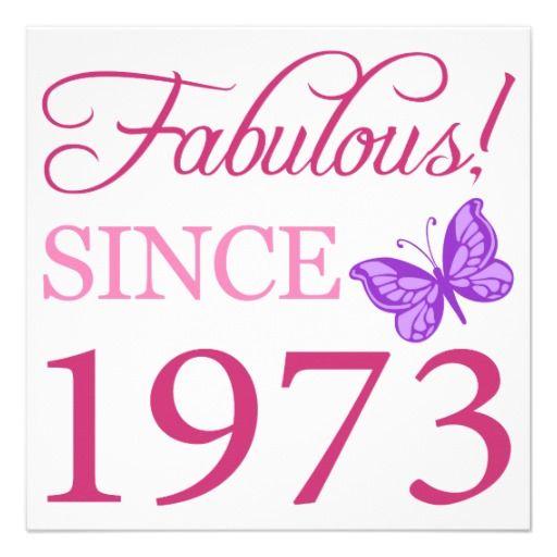 Fabulous 1973 Birthday Gift Card. Birthday MessagesAugust ...
