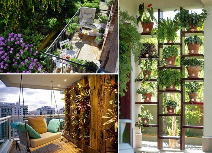 Las 25 mejores ideas sobre terrazas decoradas en for Plantas en balcones y terrazas