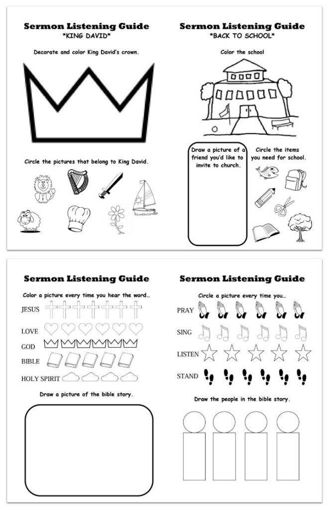Need something to help preschoolers be engaged during the worship service? Well,…