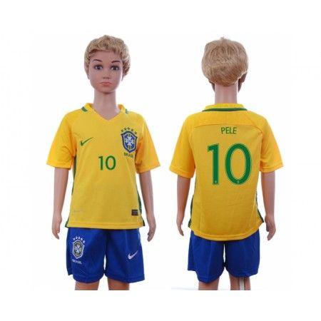 Brasilien Trøje Børn 2016 #Pele 10 Hjemmebanetrøje Kort ærmer.199,62KR.shirtshopservice@gmail.com